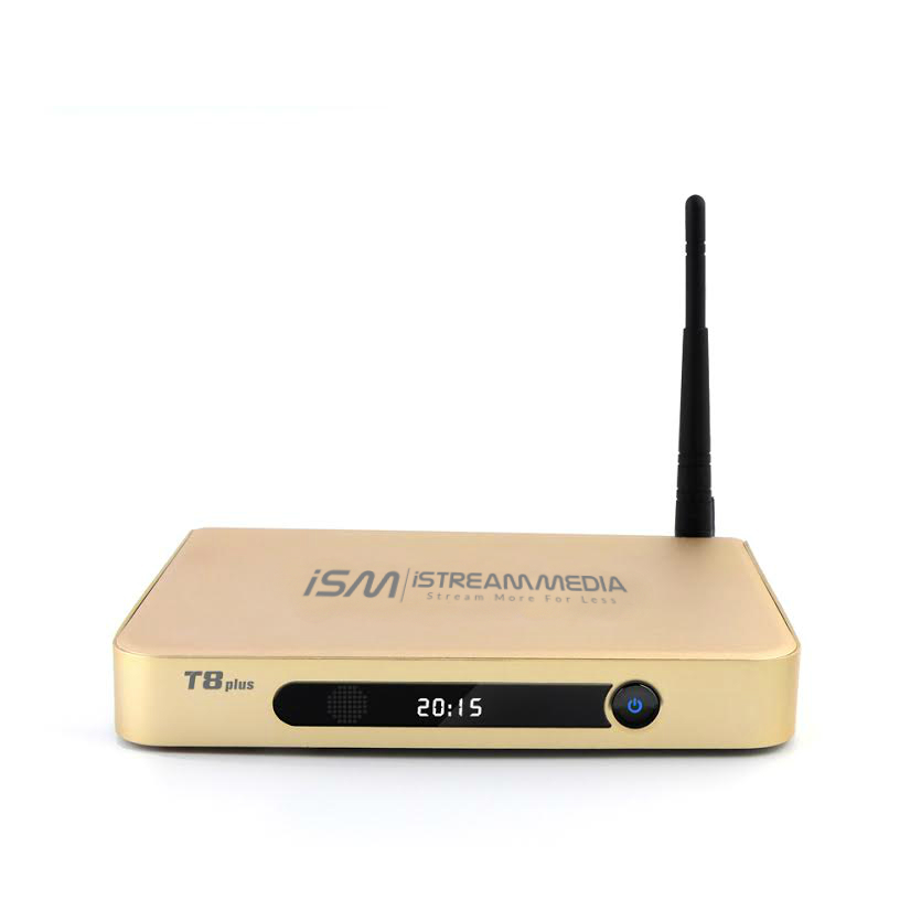 ISM T8 Plus Media Center + IPTV - Limited Edition Gold